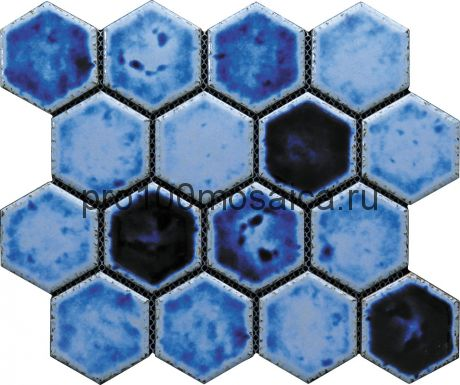 Hexa-25(4). Мозаика СОТЫ 66x77x10, серия Hexa,  размер, мм: 275*240 (GAUDI)