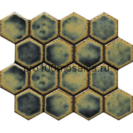 Hexa-29(4). Мозаика СОТЫ 66x77x10, серия Hexa,  размер, мм: 275*240 (GAUDI)