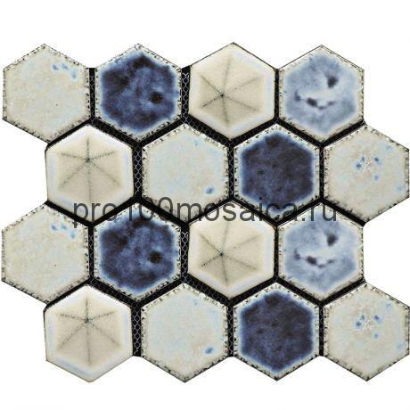Hexa-22(4). Мозаика СОТЫ 66x77x10, серия Hexa,  размер, мм: 275*240 (GAUDI)