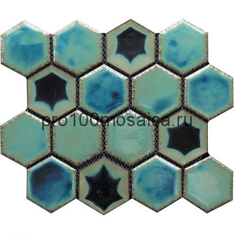 Hexa-27(4). Мозаика СОТЫ 66x77x10, серия Hexa,  размер, мм: 275*240 (GAUDI)
