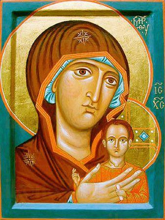 Петровская икона БМ (рукописная икона)
