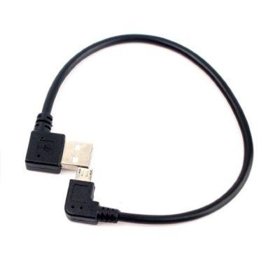 Шнур micro USB Переходник Орбита BS-419 (штекер USB-штекер microUSB) 15см