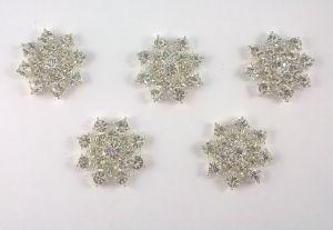 Кабошон, металл, цвет основы - серебро, 25 мм. 1уп = 10шт, Арт. КБС0036