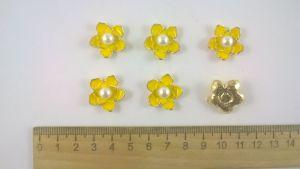 Кабошон, металл, цвет основы - золото, 20 мм. 1уп = 10шт, Арт. КБС0065