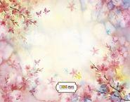 """Фон стена """"Flowers"""" 2x1.5"""