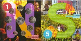 Официальный годовой набор евро Бельгия 2015 BU (10 монет)