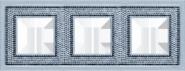 Crystal De Luxe Art  Рамка 3-ная, Bright Chrome