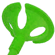 Розетки для шаров, зелёный, 100 шт/уп