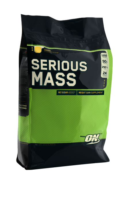 OPTIMUM NUTRITION Serious Mass 12lb (5,44кг.) - ваниль скл2 1-2дня