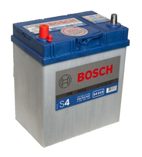 Автомобильный аккумулятор АКБ BOSCH (БОШ) S4 019 / 540 127 033 S4 Silver 40Ач п.п. (тонк. кл.)