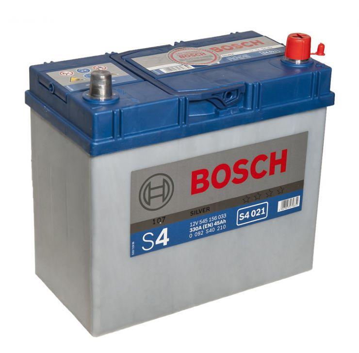 Автомобильный аккумулятор АКБ BOSCH (БОШ) S4 021 / 545 156 033 S4 Silver 45Ач о.п.