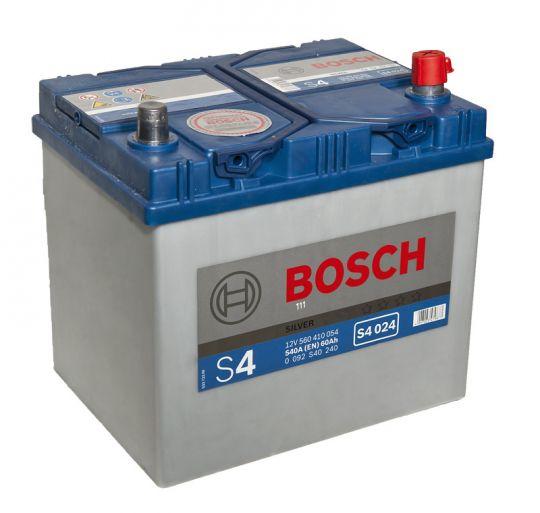 Автомобильный аккумулятор АКБ BOSCH (БОШ) S4 024 / 560 410 054 S4 Silver 60Ач о.п. (высок.)
