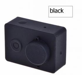 Силиконовый чехол и крышка на объектив Xiaomi Yi (черный)
