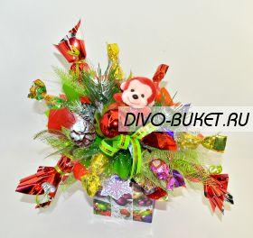 """Букет из конфет №615 """"Новогодний ажиотаж"""""""