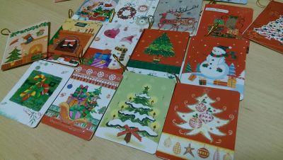 Новогодние мини открыточки