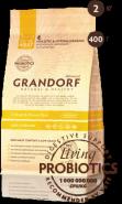 Grandorf Adult Sterilised 4 Meat & Brown Rice Low Grain - Для стерилизованных, пожилых или склонных к полноте кошек, с 4 видами мяса и бурым рисом (400 г)