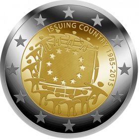 30 лет флагу Евросоюза Набор монет 23 x 2 евро 2015
