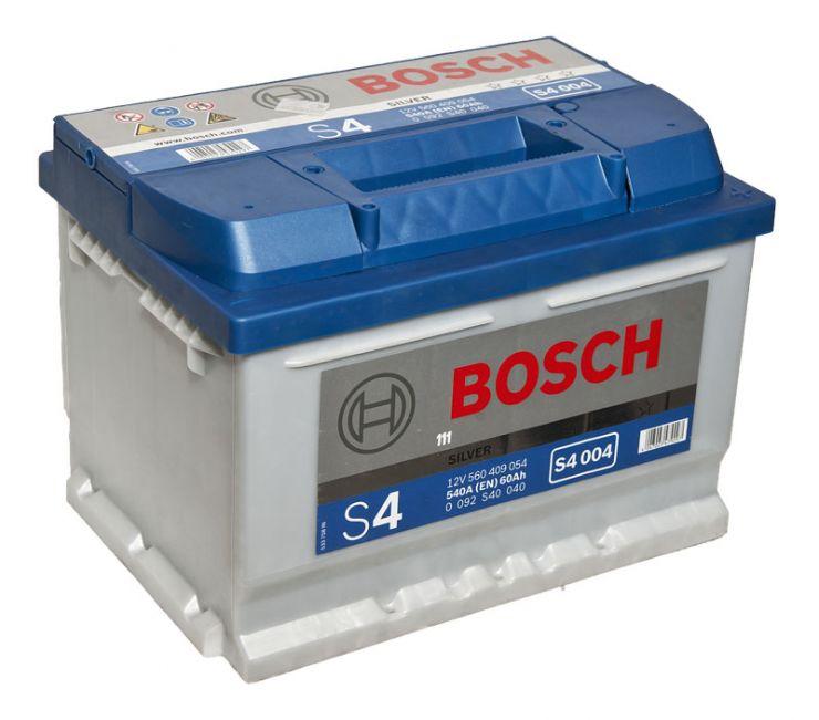 Автомобильный аккумулятор АКБ BOSCH (БОШ) S4 004 / 560 409 054 S4 Silver 60Ач о.п. (низк.)