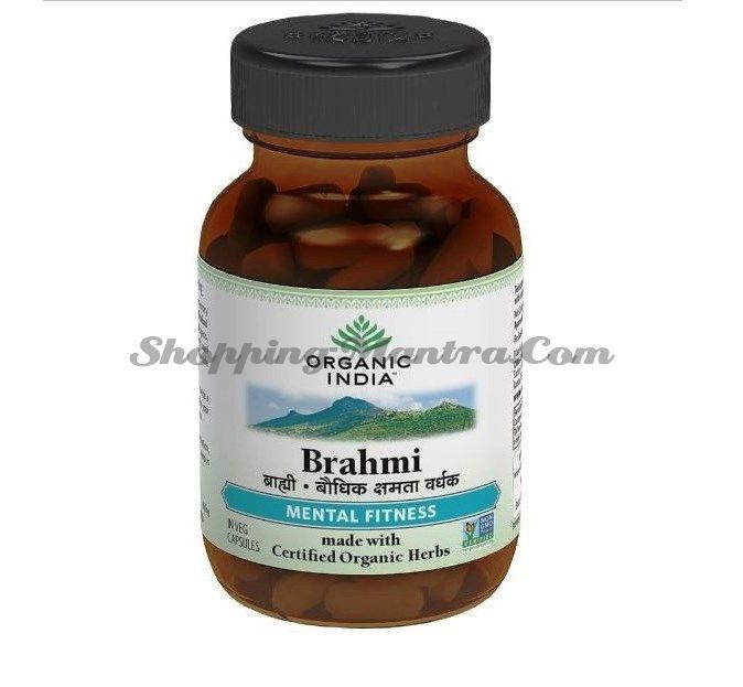 Брами в капсулах для памяти и нервной системы Органик Индия / Organic India Brahmi Capsules