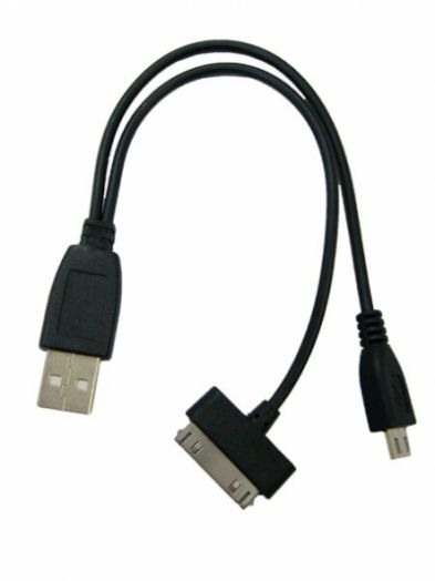 Переходник USB Орбита BS-416 (iPad/SAM TAB, microUSB)