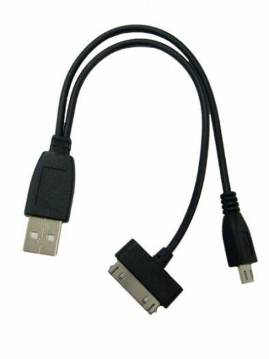 Переходник USB Орбита BS-416 (iPad/SAM TAB, microUSB)
