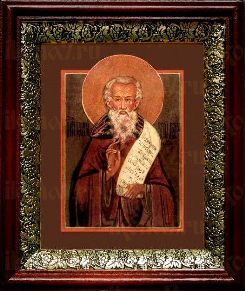 Пафнутий Боровский (19х22), темный киот