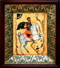 Евстафий Плакида (21х24), киот со стразами