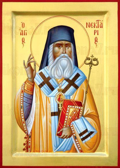 Нектарий Эгинский (рукописная икона)