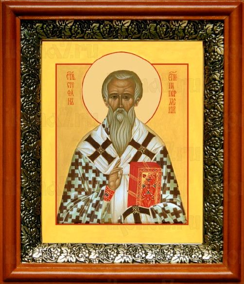 Стефан Пермский (19х22), светлый киот