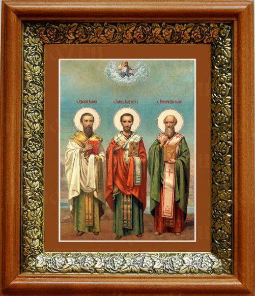Собор трех святителей (19х22), светлый киот