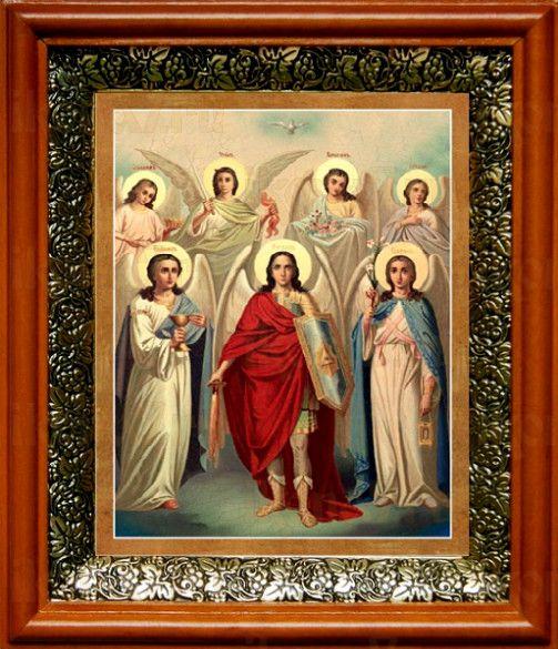 Собор святых Архангелов (19х22), светлый киот