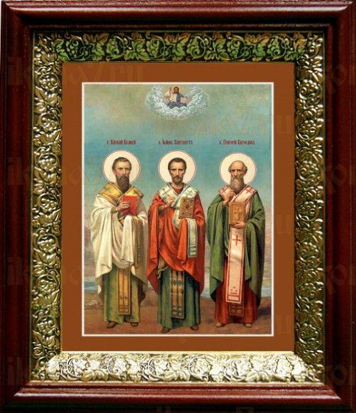 Собор трех святителей (19х22), темный киот