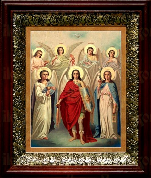 Собор святых Архангелов (19х22), темный киот