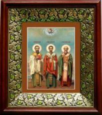 Собор трех святителей (21х24), киот со стразами