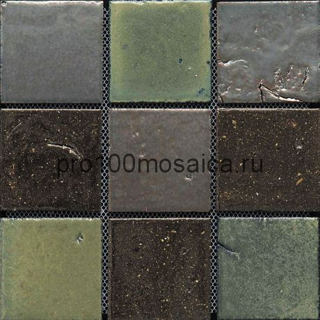 Rust-48(9). Мозаика 96x96x10, серия RUSTICO,  размер, мм: 300*300 (GAUDI)