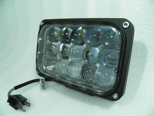 Прямоугольная светодиодная LED фара ближнего/дальнего света 45W Epistar линза