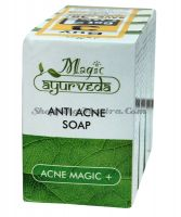 Мыло для лица против угрей и прыщей Меджик Аюрведа / Magic Ayurveda Anti Acne Soap