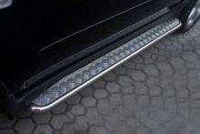 Боковые подножки Souz-96, рифлёный лист, окантовка труба, нерж. сталь ф 42мм., для RX300/330