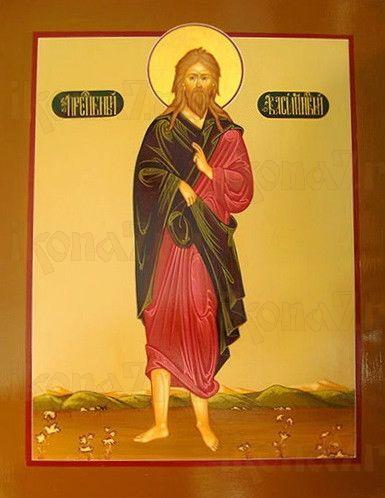 Василий Новый (рукописная икона)