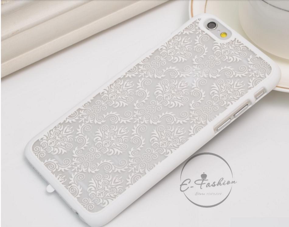 Чехол с узором для Iphone 5/5s (белый)