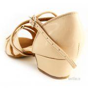 Кремовые туфли для бальных танцев