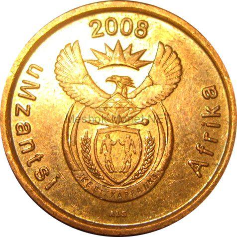 ЮАР 5 центов 2008 г.