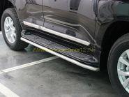 Защита штатных порогов 53 мм  для Toyota Land Cruiser 200 2015 -