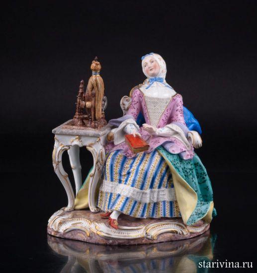 Изображение Девушка с прялкой, Meissen, Германия, 19 в