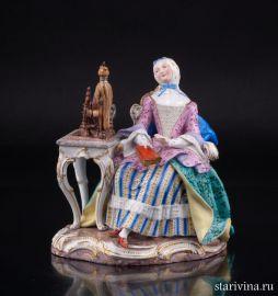 Девушка с прялкой, Meissen, Германия, 19 в., артикул 02176