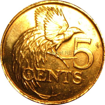 Тринидад и Тобаго 5 центов 2008 г.
