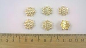 Кабошон, металл, цвет основы - золото, 18 мм. 1уп = 10шт