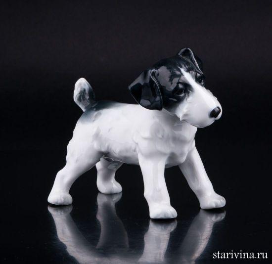 Фарфоровая статуэтка Собака производства Metzler & Ortloff, Германия
