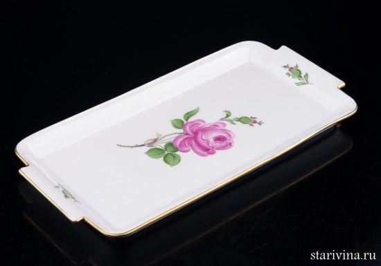 Изображение Поднос Розовая роза, Meissen, Германия, вт. пол. 20 в