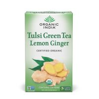 Зеленый чай Тулси, Лимон, Имбирь Органик Индия / Organic India Tulsi Green Tea Lemon Ginger